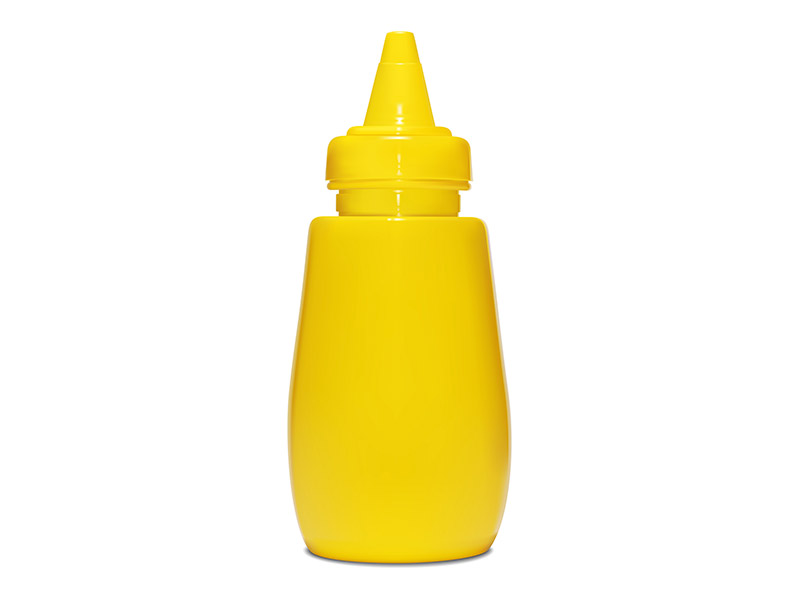 2D VECTOR YELLOW MUSTARD BOTTLE ILLUSTRATION (DERIVATIVE OF MY PHOTOGRAPHS)